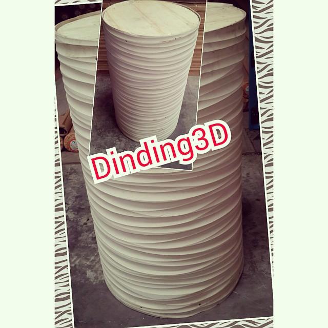 Jual panel dekoratif PVC solid mudah di bending lengkungan kurva bisa di bentuk