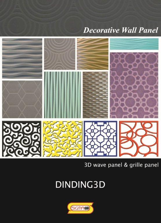 Jual panel dekoratif dinding 3D